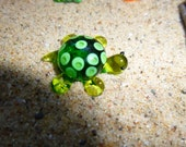 Fairy Garden accessoy, glass turtle figurine made to order