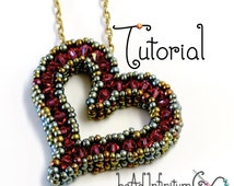 TUTORIAL Sweetheart Pendant with Beaded Cubic Right Angle Weave CRAW