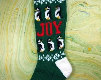 Christmas Stocking - Penguin Joy