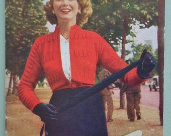 Vintage Knitting Patterns Book 1940s 1950s Ladies' Cardigans Womens Patterns Bestway K128 UK fitted styles 40s 50s original patterns SCARCE