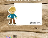 Wizard of Oz Party - Set of 8 Scarecrow Thank You Cards by The Birthday House