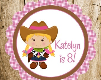 Little Cowgirl Party - Custom Cowgirl Party Sign by The Birthday House