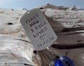 Personalized Valentines Day Gift for Him Hand Stamped Fishing Lure Mens Gift for Him Valentines Day Gift for Father Gift for Valentines Day