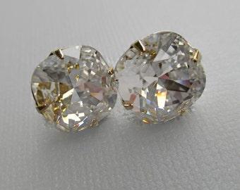 Crystal Stud Earrings - Swarovski Crystal Earrings - Diamond Crystal Earrings - Bridesmaid Gift - Bridal Earrings -  JOLIE Crystal