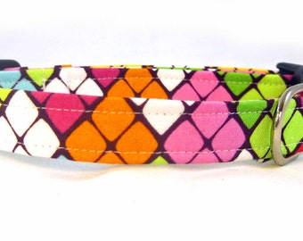 Handmade Collar Colorful Argyle