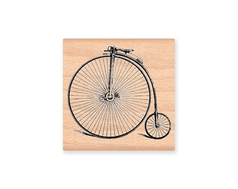 VINTAGE BICYCLE-Wood Mounted Rubber Stamp (mcrs 25-25)