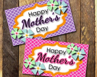 Happy Mother's Day Tags- (10) 2x3.5 Cards- Instant download