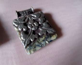 SALE Tibetan Stone Pendant for Jewelry Design, Tribal Fusion, Bellydance