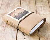 Tall Ship Leather Journal - Rustic Tan Travel Journal