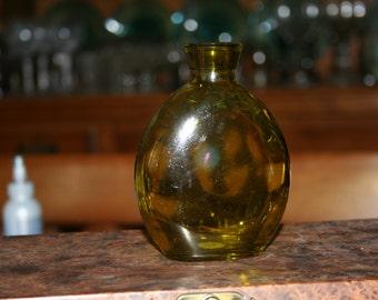 Vintage Flat Green Bottle
