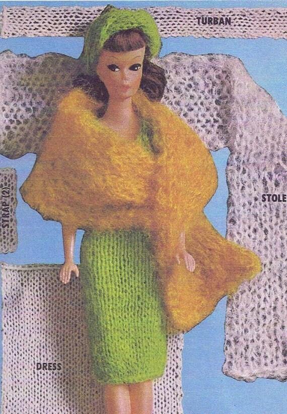 Vintage Crochet PATTERN for Barbie Midge Ken Allan Clothes PDF