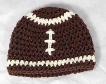 Ready to Ship size 3-6 Months Baby Football Beanie Hat