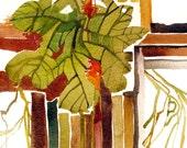 Natural Patterns - original watercolor painting