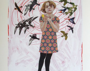 Canary Girl- Fine Art Print on Paper