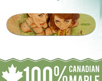 Life's a Picnic, Bring Your Friend - Natural Skate Deck
