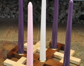 Jerusalem Cross Advent Candle Holder/Centerpiece