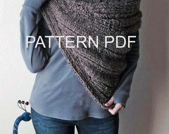 PATTERN PDF - Pattern for DIY District 12 Cowl - Easy Knitting Pattern - customizable sizes