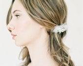 "Crystal and tulle wedding hair comb ""Aeryn"""