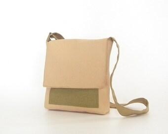 Small mens shoulder waxed canvas bag, canvas bag men, canvas bag crossbody, canvas shoulder bag, small shoulder bag, cross shoulder bag