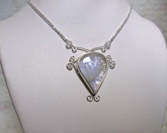 Silver Moonstone Necklace- Metal Work