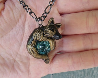 German Shepherd Necklace Custom Polymer Clay Handmade