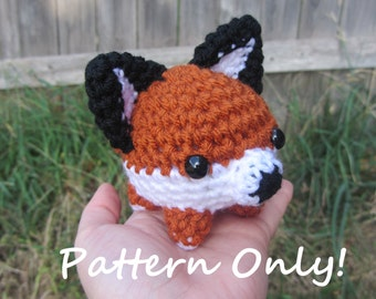 PATTERN - Crochet - Blob Animal Amigurumi - Fox