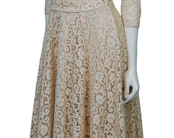 1950 Lace Dress with pearl and squin detailing