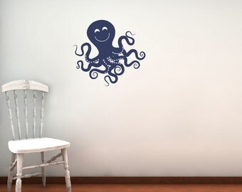 Octopus Wall Decal - Children Nursery - Sea Ocean Friends