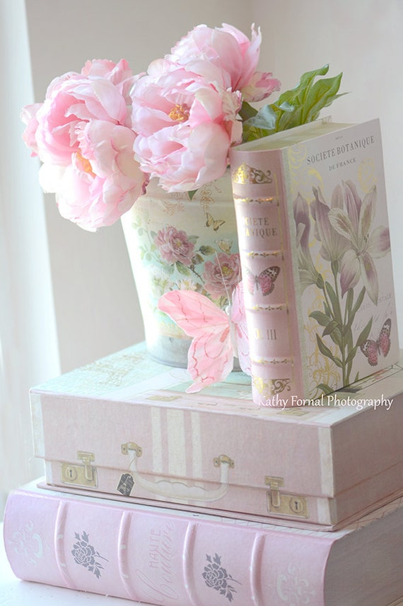 pink peonies print dreamy pink peonies shabby chic decor. Black Bedroom Furniture Sets. Home Design Ideas