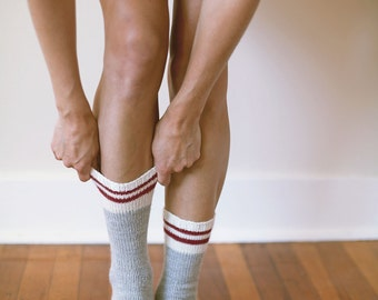 KNITTING PATTERN // Climb socks // toe-up fingering weight hiking work sock -- PDF