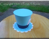Alice In Wonderland Top Hat Centerpiece - Color Printable PDF - Alice - PR