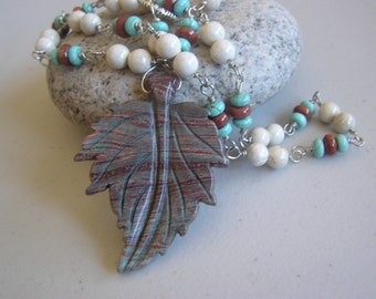 Late Fall                Leaf Necklace