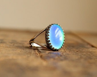 Large Silver Mood Ring/ Color Changing Ring/ Gypsy Jewelry/ Boho Ornate Ring/ Hippie Ring/ Festival Jewelry/ Mood Jewelr/ Real Mood Ring
