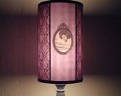 Hypnotic Violet Lampshade - goth decor, halloween, purple lamp shade, damask lamp shade, bohemian decor, boho, Spooky Shades, original gift