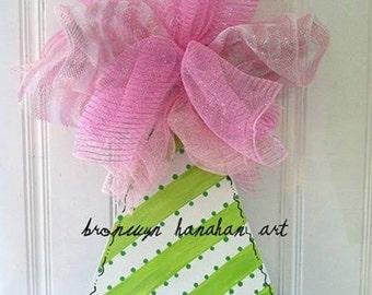 Birthday Girl Hat Door Hanger Free Shipping - Bronwyn Hanahan Art