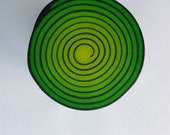Polymer Clay Spiral Cane, Swirl Cane, Raw Cane, Green and Yellow