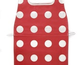 Waterproof Apron - Toddler & Primary - Red Polka Dots