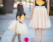 Be Bold Go Gold Serendipity Skirt to benefit the Ronan Thompson Foundation, Womens Tulle Skirt, Circle Skirt, Champagne, Bridal Skirt