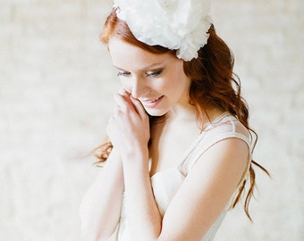 Wedding Headpiece, Bridal headband, Silk Flower Headband  - Style 322