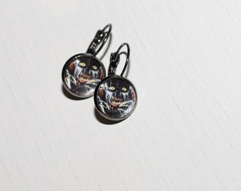 Black Werewolf Earrings
