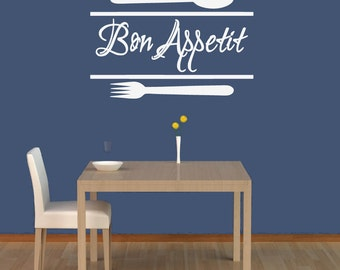Bon Apetit DECAL, Kitchen Wall Decal