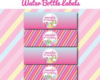 Printable Pool Birthday Party - WATER BOTTLE LABELS - Printable Water Botle Labels - Pool Party Decorations - Printable Pool Party