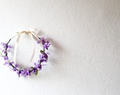 Purple Lavender Floral Crown Flower Headband / Gift for Her / Spring