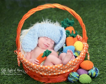 Baby Boy Easter Hat - Easter hat for baby boy - Newborn photo prop - baby boy bunny ears hat - Bunny hat - baby Easter hat - Easter hats