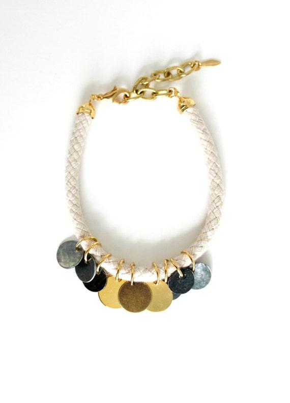 Cord & Drop Charm Bracelet