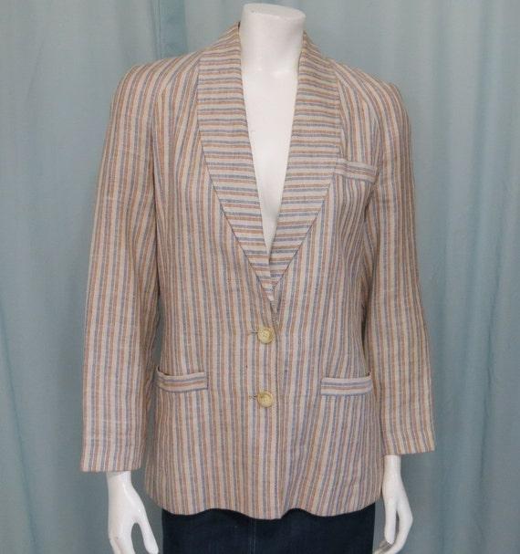 henry white dublin vintage 1970 s 100 linen blazer