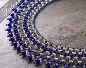 Super Duo Vertical Netting Stitch Collar Necklace Tutorial, Bead Weaving Pattern, Step by Step with Detailed Diagrams.  Janet