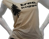 Ready to ship. Tree Hugger T Shirt. Art by MATLEY. Sexy Soft Jersey top. American Apparel lightweight Low Scoop neck TShirt