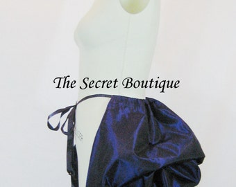 purple bustle-gothic bustle-tie on bustle-purple-pirate-renaissance-corset bustle-plus size-the secret boutique-bustle skirt