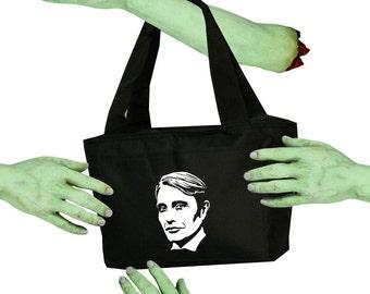 Voodoo Sugar Mads Mikkelsen Hannibal Lecter Tribute Black Zippered Insulated  Cooler Tote Bag